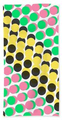 Overlayed Dots Beach Towel