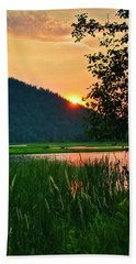 Beach Towel featuring the photograph Pack River Delta Sunset 2 by Albert Seger