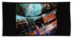 Packard On Ice Beach Sheet by Joe Jake Pratt