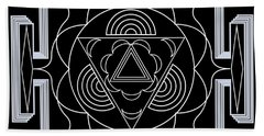 Beach Towel featuring the digital art Palace Hypnosis by Mario Carini