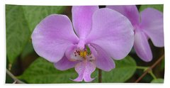 Pale Pink Orchid Beach Towel