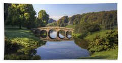 Palladian Bridge At Stourhead. Beach Sheet