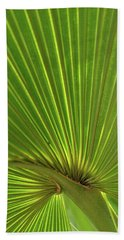 Beach Towel featuring the photograph Palm Leaf by JD Grimes
