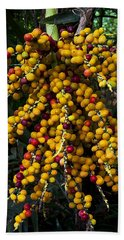 Palm Seeds Baroque Beach Towel by Steven Sparks