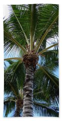 Beach Towel featuring the photograph Palm Tree Umbrella by Athena Mckinzie