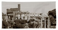 Panoramic View Via Sacra Rome Beach Towel by Tom Wurl