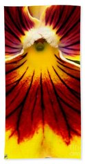 Pansy Named Imperial Gold Princess Beach Sheet by J McCombie