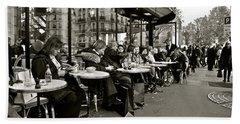 Beach Sheet featuring the photograph Paris Cafe by Eric Tressler