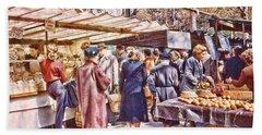 Parisian Market 1954 Beach Towel