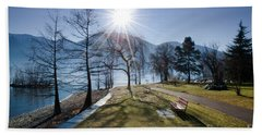 Park On The Lakefront Beach Towel