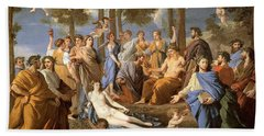 Parnassus, Apollo And The Muses, 1635 Beach Towel