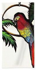 Parrot Shadows Beach Towel