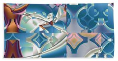 Beach Towel featuring the digital art Patchwork Abstract by Mario Carini