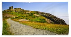 Path To Cabot Tower On Signal Hill Beach Towel
