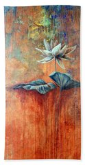 Patina Lotus Beach Towel