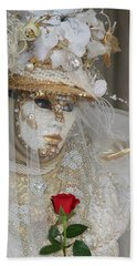 Pearl Bride With Rose 2 Beach Sheet