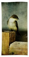 Perched Phoebe Beach Towel