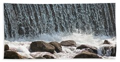 Beach Towel featuring the photograph Phelps Mill Dam by Penny Meyers