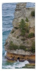 Beach Towel featuring the photograph Pictured Rocks In Oil by Deniece Platt