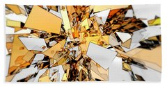 Beach Towel featuring the digital art Pieces Of Gold by Phil Perkins