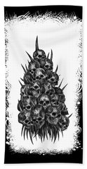 Pile Of Skulls Beach Towel by Tony Koehl