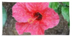 Beach Towel featuring the photograph Pink Hibiscus by Donna  Smith