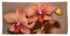 Pink Orchid2 Beach Towel