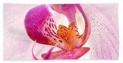 Pink Phalaenopsis Beach Towel