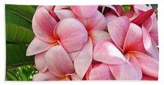 Pink Plumerias Beach Towel