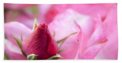 Beach Sheet featuring the photograph Pink Rose by Jeannette Hunt