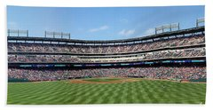 Globe Life Park, Home Of The Texas Rangers Beach Towel