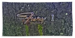 Plymouth Fury Logo Beach Towel by Dan Stone