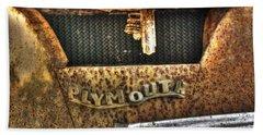 Plymouth Logo Relic Beach Towel by Dan Stone