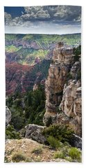 Point Imperial Cliffs Grand Canyon Beach Towel