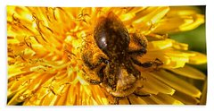 Pollinating Beach Towel
