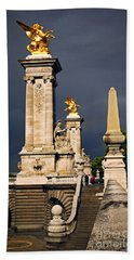 Pont Alexander IIi In Paris Before Storm Beach Towel