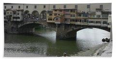 Beach Sheet featuring the photograph Ponte Vecchio by Laurel Best