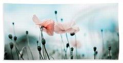 Poppy Flowers 02 Beach Towel