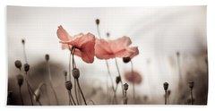 Poppy Flowers 03 Beach Towel