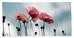 Poppy Flowers 07 Beach Towel
