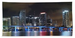Port Of Miami Downtown Beach Towel