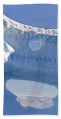 Portion Of A Gigantic Iceberg Beach Towel