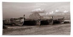 Old Port Of Trapani Beach Sheet