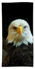 Beach Towel featuring the photograph Portrait American Bald Eagle by Randall Branham