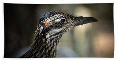 Portrait Of A Roadrunner  Beach Sheet by Saija  Lehtonen