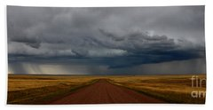 Prairie Storm In Canada Beach Towel