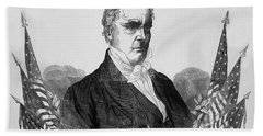Presidnet Of The United States - James Buchanan  Beach Towel
