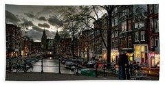 Prinsengracht And Spiegelgracht. Amsterdam Beach Sheet
