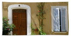 Beach Towel featuring the photograph Provence Door 3 by Lainie Wrightson