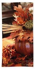 Pumpkin Leaf Decor Beach Sheet